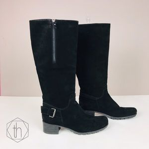 Aquatalia suede riding boots 9 buckle